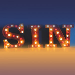 SIN Channel Letters with light-bulbs