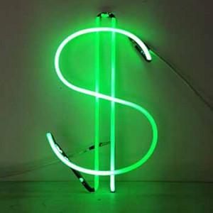 cash money green $ dollar sign
