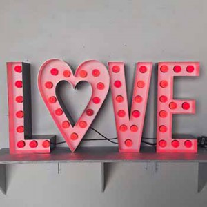 Love channel letters  Valentines Day Valentine