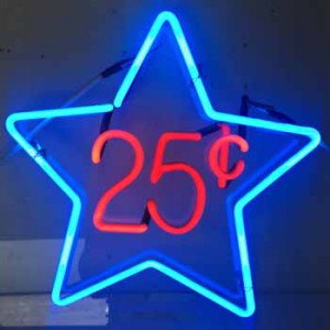 25¢ Twenty-Five Cents Star
