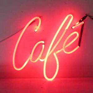 Cafe Red Cursive