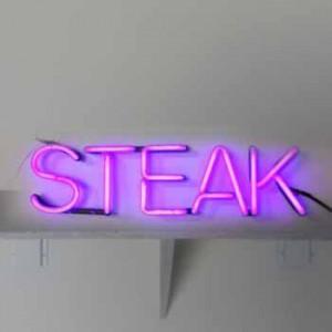 STEAK butcher meat