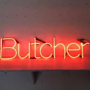 Butcher market storefronts exterior food