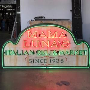 MAMA LUNA'S ITALIAN DELI & MARKET Italian food pasta pizza restaurant vintage
