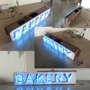 bakery, double sided vintage