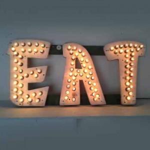 EAT with lightbulbs