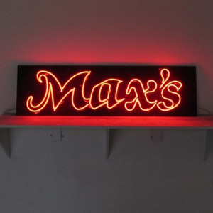 Max's Clear Red Neon Black MDO Backer