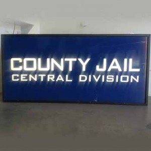 light box Police county Jail central division