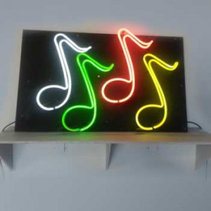Musical Notes White Green Red Yellow