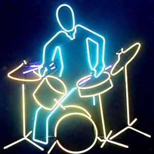 Drummer drums music