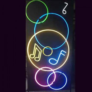 circles music notes panels