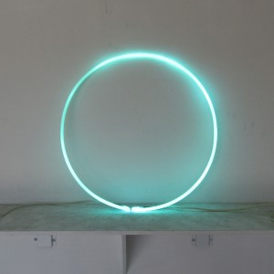 "Aquamarine Circle - 22"" - (neon only)"