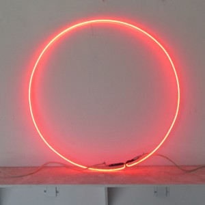 "Clear Red Circle - 30"" - (neon only)"