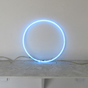 "Clear Blue Circle - 12"" - (neon only) - (2 available)"