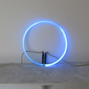 "Neo Blue Circle - 12"" - (neon only)"