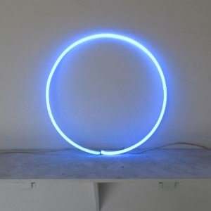 "Neo Blue Circle - 18"" - (neon only)"