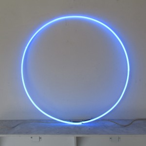 "Neo Blue Circle - 30"" - (neon only)"