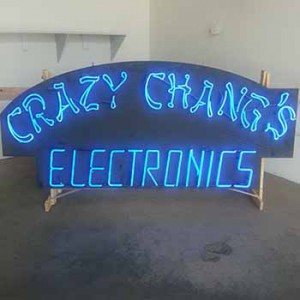 Asian crazy changs electronics storefront chinese english asain