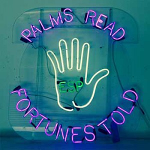 PALMS READ FORTUNES TOLD ESP with hand outline