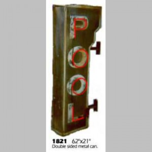 pool hall exterior double sided 50's billiards