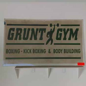 grunt gym boxing kick body building work out