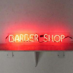 BARBER SHOP red salon hair salon