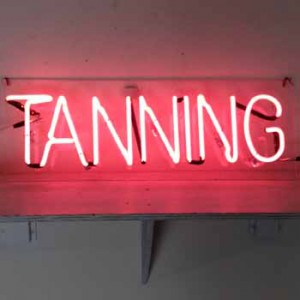 Tanning gym storefront fitness health beauty