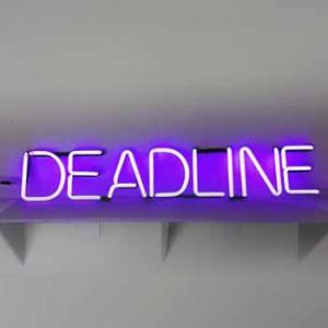 deadline time quota magazine newspaper schedule school classroom office work business