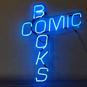 Comic books storefront