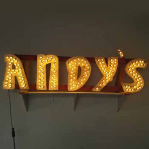 andy's marquee shop store retail market light bulbs bulb channel lightning lights light