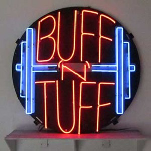 buff tuff gym workout health fitness weights lift