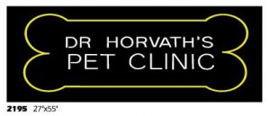 Dr Horvath's pet clinic names storefront exterior veterinarian