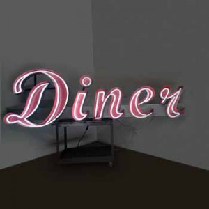 Diner channel letters with neon