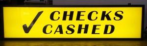 checks cashed lightbox