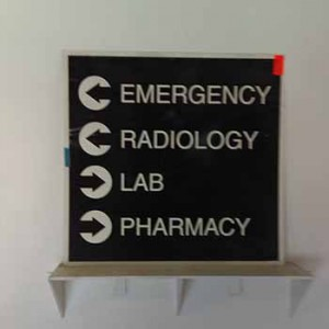 EMERGENCY RADIOLOGY LAB PHARMACY directions Light-box