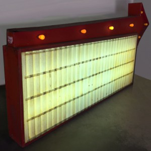 readerboards 50's gas margee margue lightbox station auto arrow exterior