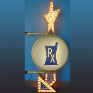 Rx Arrow Pharmacy Bulb Light