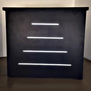 Neon Bar table - Inlaid White Neon Lines