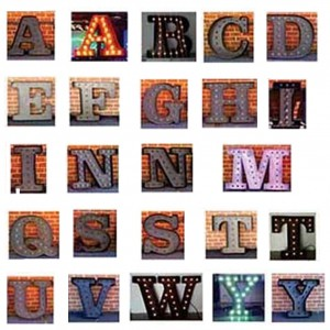 channel letters light bulbs marquee fairs carnival