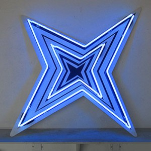 Abstract Star Blue stars