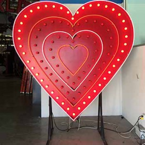 heart hearts animated chasing bulbs love Valentines Day wedding cupid