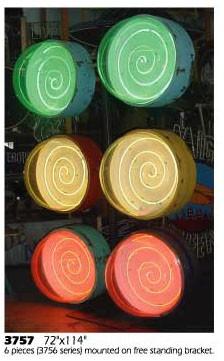 Spiral carnival fairs arcade arcades