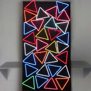 triangle triangles shape panels 80's free standing wall