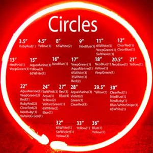 Circles in Various Sizes and Colors
