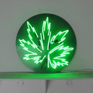 Marijuana leaf on round cut-out backer,  Green,  Pot, Ganja, Grass, Weed, Sensi, Dank, Herb, Chronic, Drugs