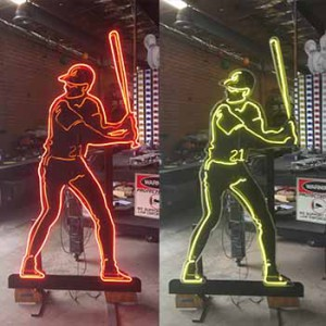 baseball player arcade batting cages stadium