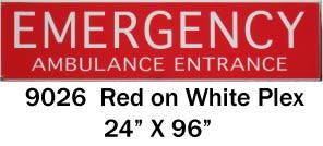 EMERGENCY AMBULANCE ENTRANCE Light-box
