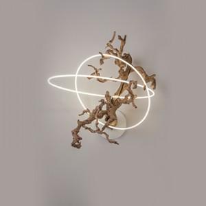 Wood Grape Vine Neon Series Art Chandelier Lisa Schulte
