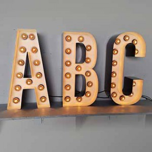 Channel Letters light bulb letters alphabet single letters carnival fairs marquee letters