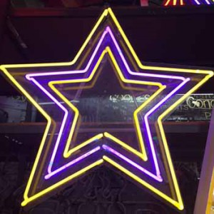 Yellow purple Star stars